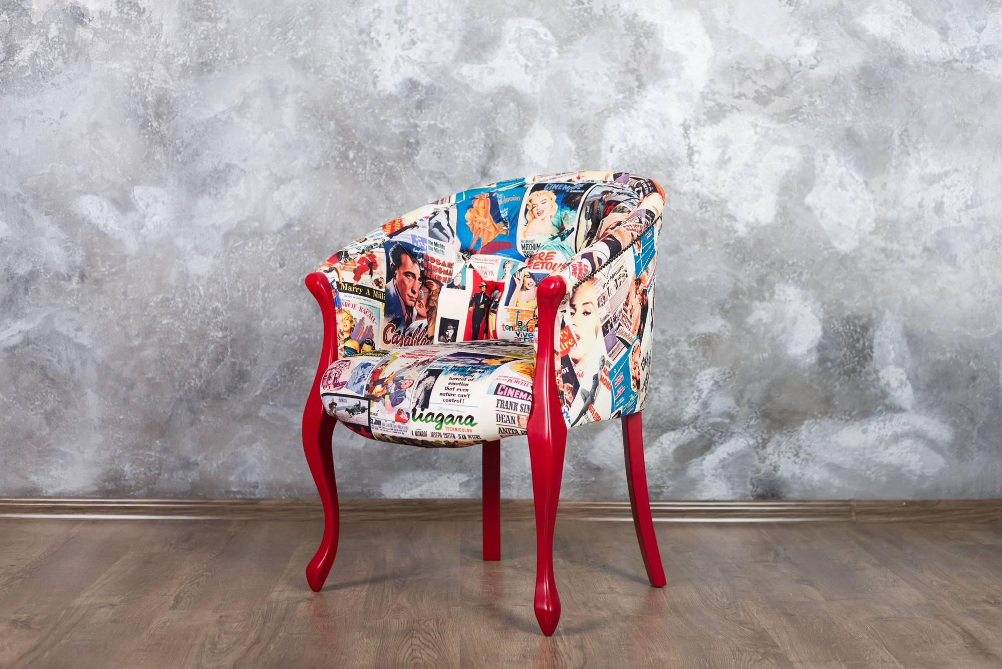 Локация Grey с креслом поп арт